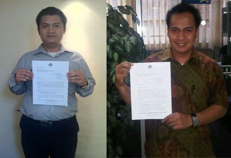 Tim Bantuan Hukum APPI memegang kedua gugatan yang telah didaftarkan ke PN Jakarta Pusat